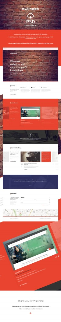 Freebie – my.kingdom one page PSD template | KreativeShowcase