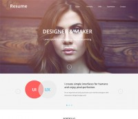 Resume a SinglePage Flat Responsive web template by w3layouts