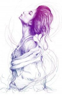 Pretty (Purple) Lady Art Print by Olechka | Inspiration DE
