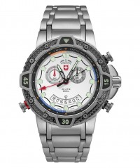 CX SWISS MILITARY TYPHOON WATCH 200m WR TITANIUM CASE & BRACELET SILVER - TYPHOON - CX SWISS MILITARY