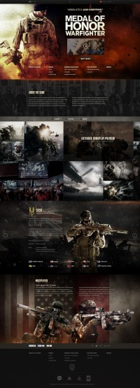 Medal of Honor Warfighter Site Redesign | Inspiration DE