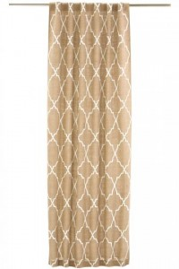 Moroccan Tile Burlap Curtain Panel - Draperies & Tiebacks - Window Treatments - Linens & Fabrics | HomeDecorators.com