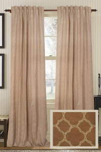Cicilia Embroidered Burlap Curtain Panel - Burlap Curtain Panels - Embroidered Curtains - Drapery Panels | HomeDecorators.com