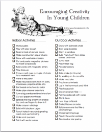 Encouraging Creativity in Young Children | Flanders Family