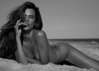Alessandra Ambrosio poses completely nude on the beach as she gets back to her Brazilian roots | Mail Online
