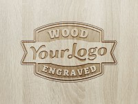 Wood Engraved Logo Mockup Vol. 2 - FreebiesXpress