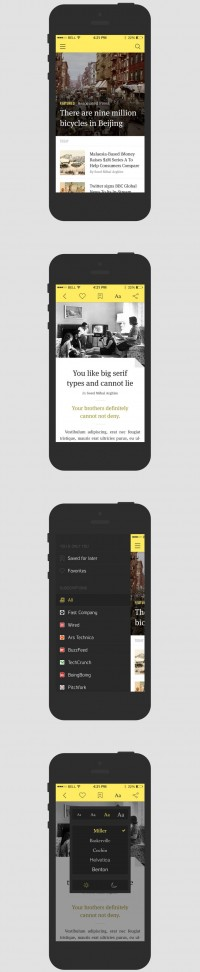News Reader iOS7 Application Template | app | Pinterest
