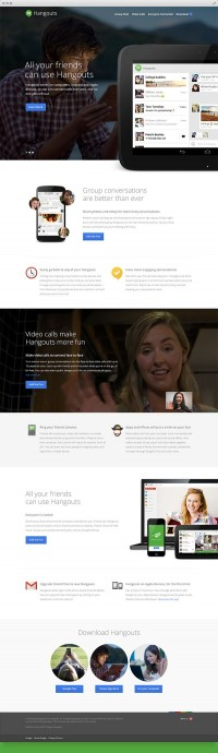 Google Hangouts | LP | Pinterest