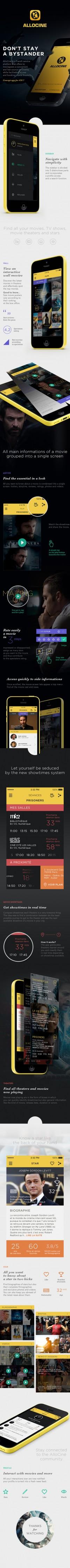 App-nomal Design / AlloCine - Concept Mobile app — Designspiration