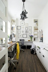 Decorating A Black & White Office: Ideas & Inspiration | Inspiration DE
