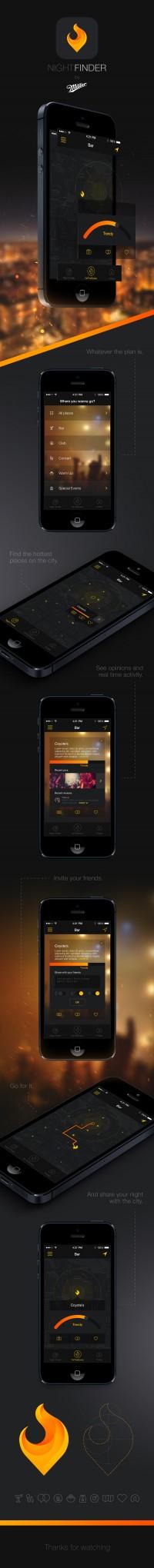 Night Finder App on