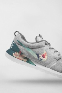 Heathered melange jersey covered shoe with tropical printed swoosh and inlay… hot | Inspiration DE
