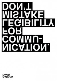 Poster / David Carson, by ink insurgent — Designspiration