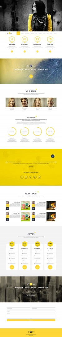 Web Design / yellow, clean — Designspiration
