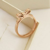 shego shopping mall — [grzxy6700011]Gold Bowknot Ring Valentine's Day Gift