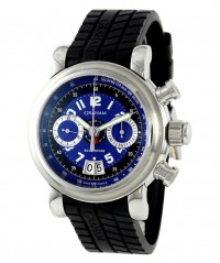 GRAHAM GRAND SILVERSTONE STEEL CASE BLUE/BK DIAL GMT FLYBACK 2GSIAS.U01A.K07B - GRAHAM