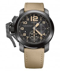 GRAHAM CHRONOFIGHTER OVERSIZE 47MM 48HR PWR RES BEIGE STRAP 2CCAU.B02A.T13N - GRAHAM