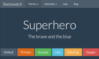 Bootstrap superhero theme template