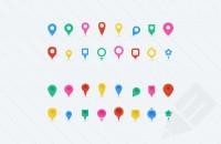 Free Vector Map Location Pins : Medialoot