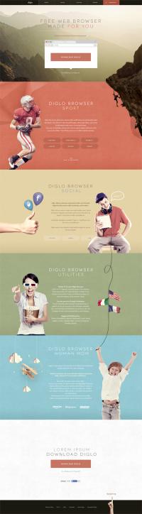 Diglo.com redesign.   Inspiration DE