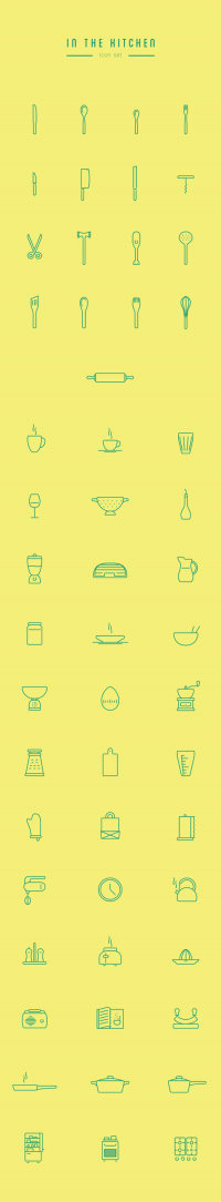 In The Kitchen – Free Icon Set on