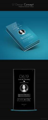 Clean lockscreen UI design Concept, Graphic Design, Interaction Design, UI/UX