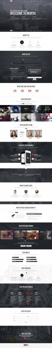 North One Page PSD Template | Inspiration DE