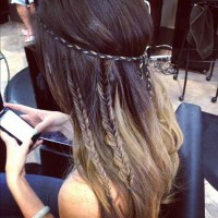 love the hippie braids | Hippie hair/bands | Pinterest