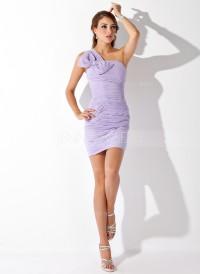 Jacka One-Shoulder Kort-längd Chiffong Cocktailklänning med Rufsar Rosett/-er (016008449) – JennyJoseph | Inspiration DE