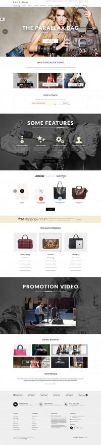 Opencart Fashion Bag Store – Parallax | Inspiration DE