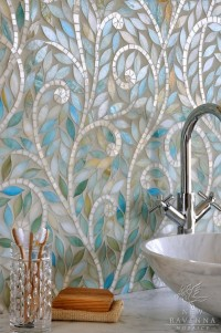Mosaic bathroom backsplash | Salle de bain bathroom | Pinterest