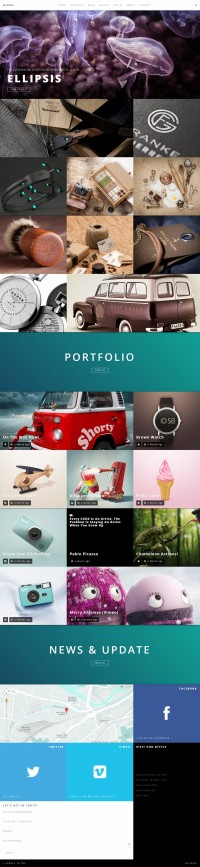Ellipsis – Fullscreen HD Portfolio WordPress Theme | Inspiration DE