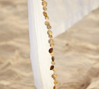 Shell Border Linen Sheer Drape | Pottery Barn