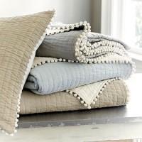 Audree Pom Pom Quilt - Natural | Ballard Designs