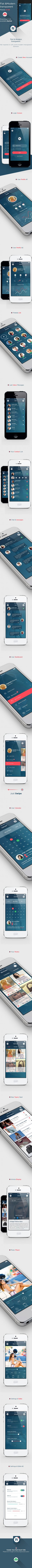 Flat Mobile UI/UX Concept +download | Web Design | Pinterest