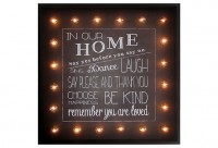 "Marquee Light-Up ""In Our Home..."" Sign 