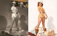 The Iconic Pin-Ups Of The 50's Were Inspired By REAL Women. Here Are The Rare Original Photos.