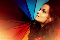 Rainbow umbrella girl portrait - 54ka [photo blog]