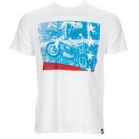 Bell Powersports Tee Made In USA Evel White T-Shirt