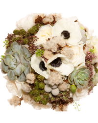 Eco-chic bridal bouquet   OneWed