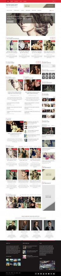 Web Design / fashion, red, layout, concept