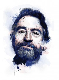 Robert de Niro Watercolors on Illustration Served