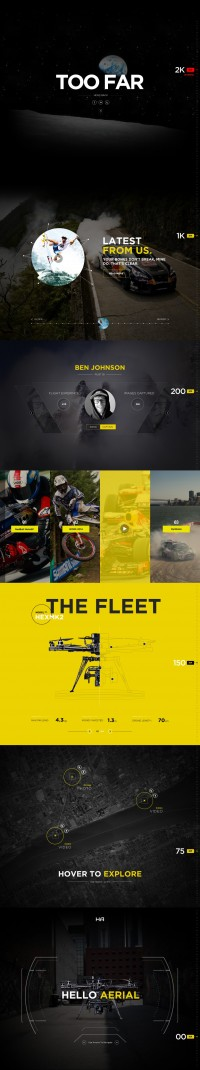 Drone Life – Web design Inspiration by Nick Ano | Inspiration DE