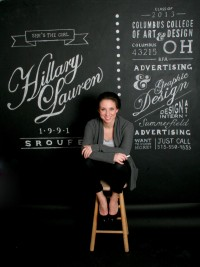 Resume Chalk Wall by Hillary Sroufe | Inspiration DE