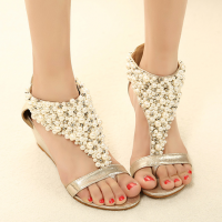 shego shopping mall — [grzxy61900003]Elegant Fashion Beaded Rhinestone Thong Sandal