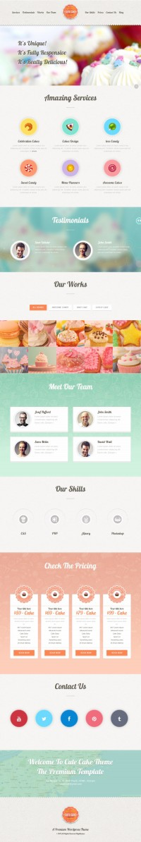 Cute Cake – Responsive One Page Wordpress Theme | Inspiration DE