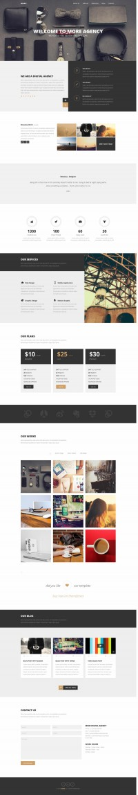 MORE – Creative One Page Wordpress Theme | Inspiration DE