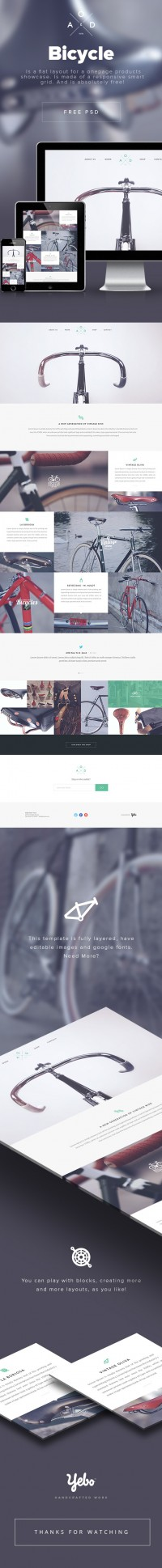 Bicycle Free PSD on