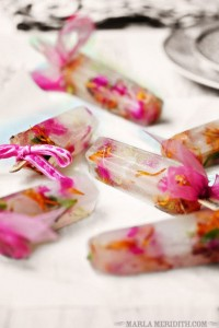 Spring Flower Popsicles Recipe: Edible Flower Pops-Bridal, Baby Shower on FamilyFreshCooking.com — Family Fresh Cooking