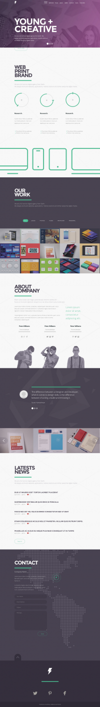 SENSA is simple and clean one page portfolio WordPress theme. | Inspiration DE